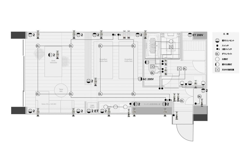 解体が終わりスケルトンになった室内 配管・電気の取り回しの打ち合わせと実測、漆喰の色味確認 沖縄ワーケーションルーム リノベーションプロジェクト