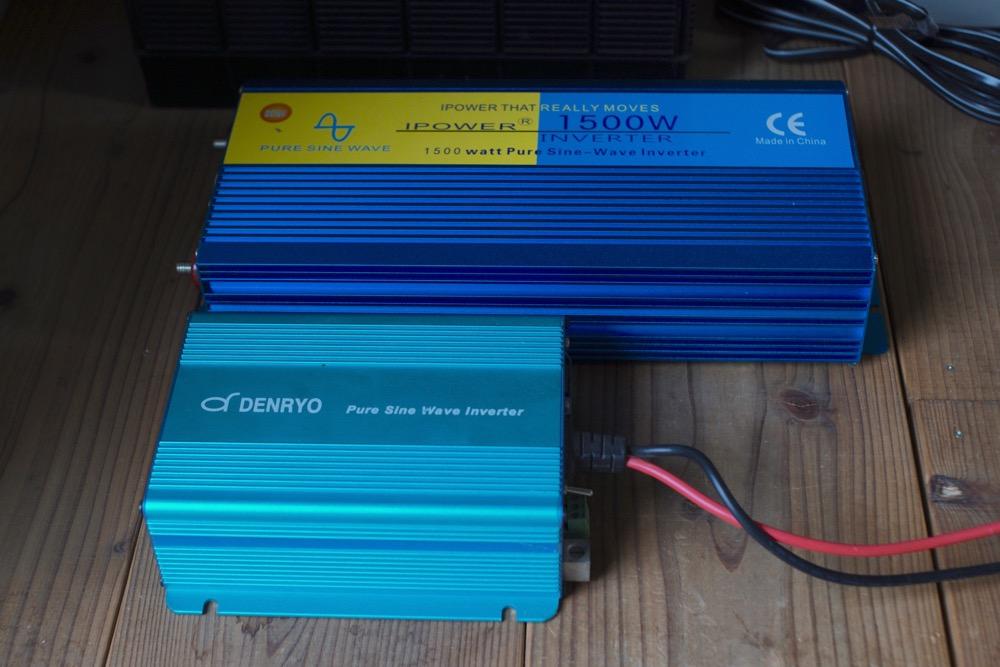 インバーター 電菱Denryo SK350とIpowerBingo1500W