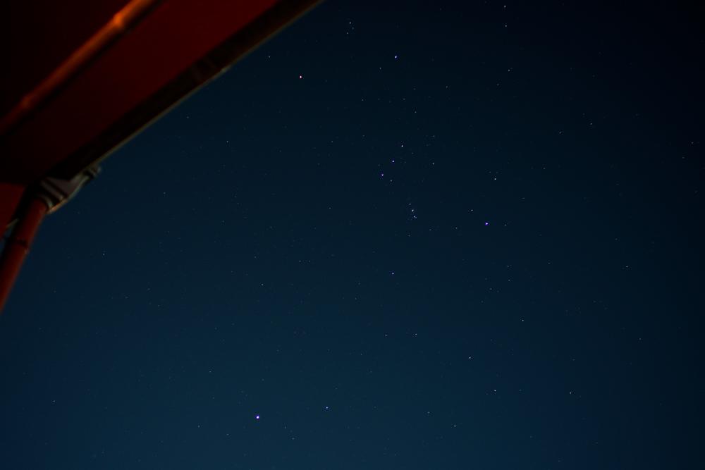 台風一過 東京も星が綺麗
