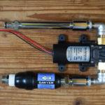 ガーデンシンクをDIY DAY2 12Vウォーターポンプ+SAWYERスクィーズ フィルターで浄水システムを組む