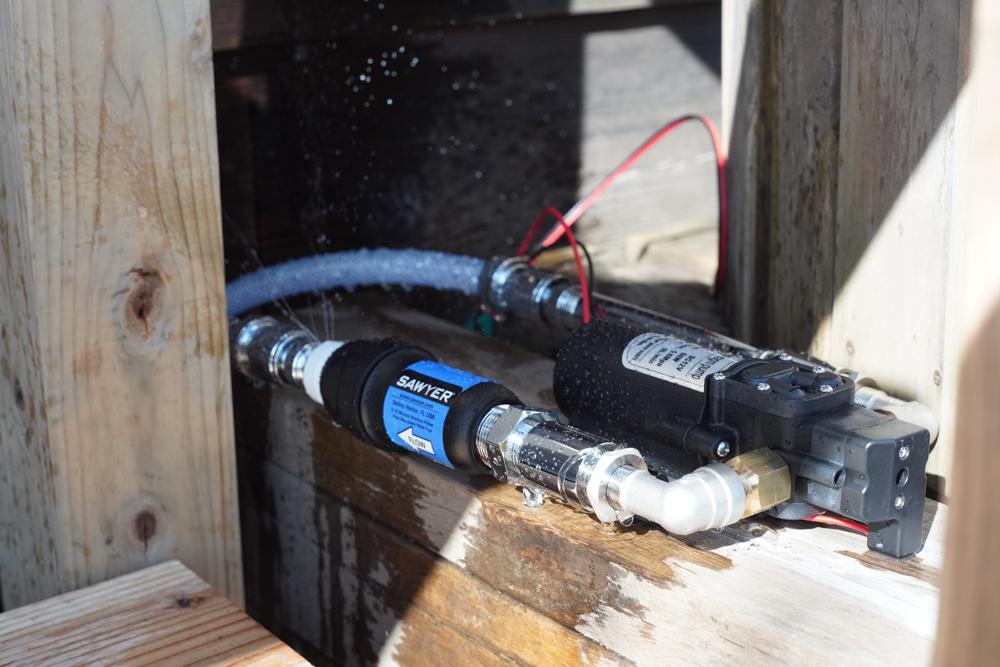 ウォーターポンプ+浄水器テスト稼働