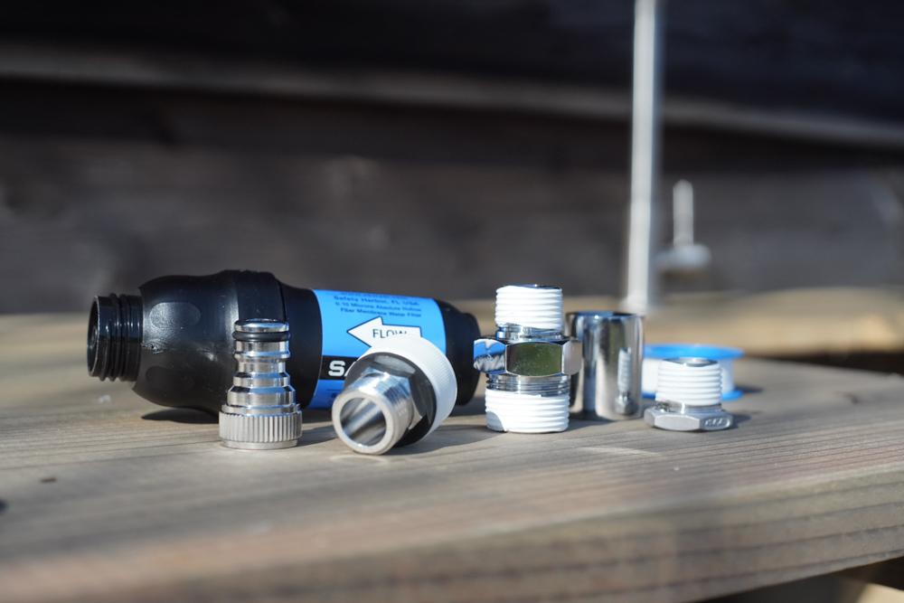 ウォーターポンプと浄水器のシーリング
