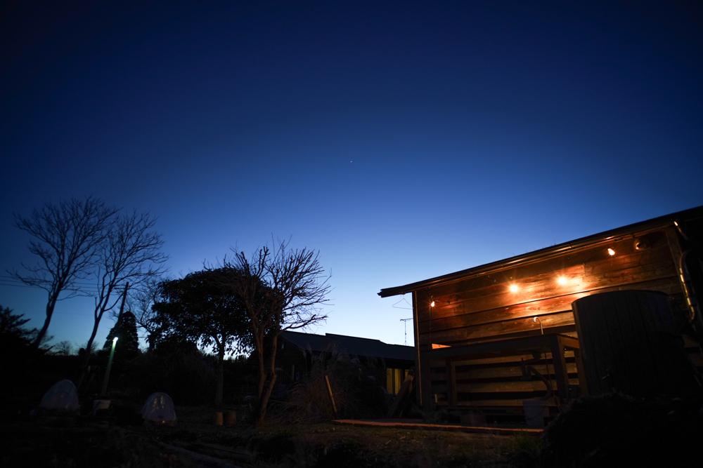 房総フィールド夕景と金星