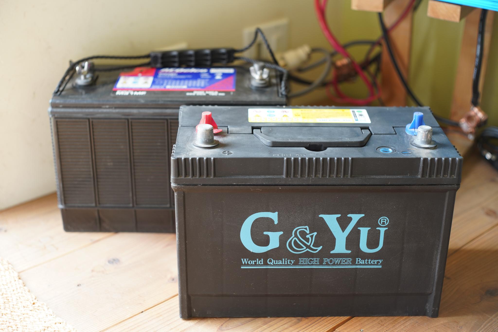 小屋で使用しているソーラー発電用ディープサイクルバッテリー G&Yu SMF 31MS