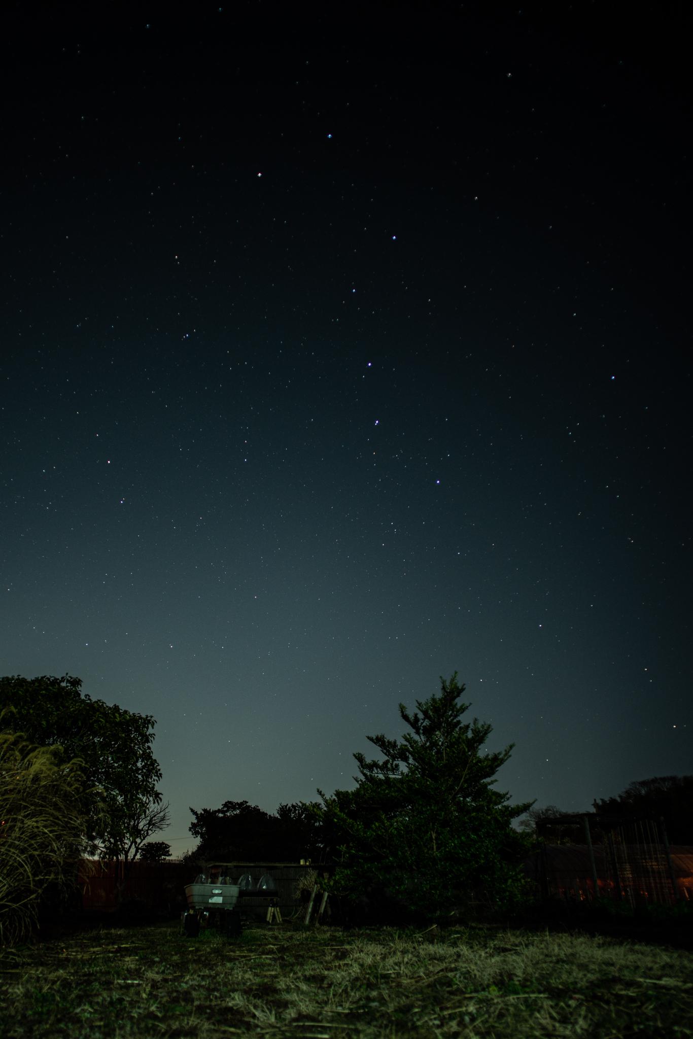 新月の星空 北斗七星