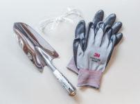 #65 永塚製作所 ステンレス共柄スコップ補強付 + 3M セキュアフィット保護メガネSF201AF + 3M Comfort Grip Glove