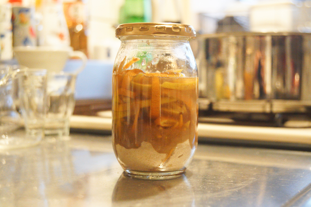 房総フィールドのお隣さんで育ったゆずで柚茶を作る 柚茶仕込み完了