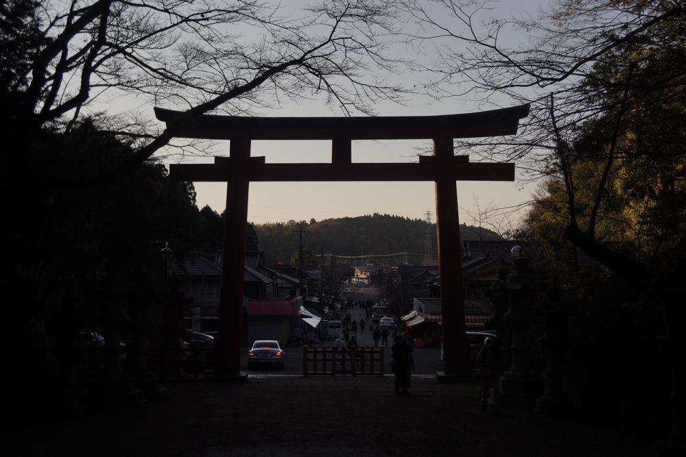 香取神宮 参道からのサンセットタイム