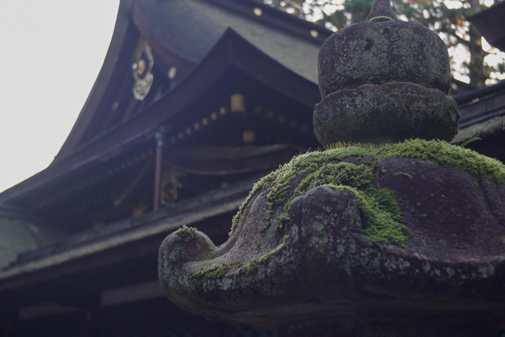 香取神宮 苔むす灯籠