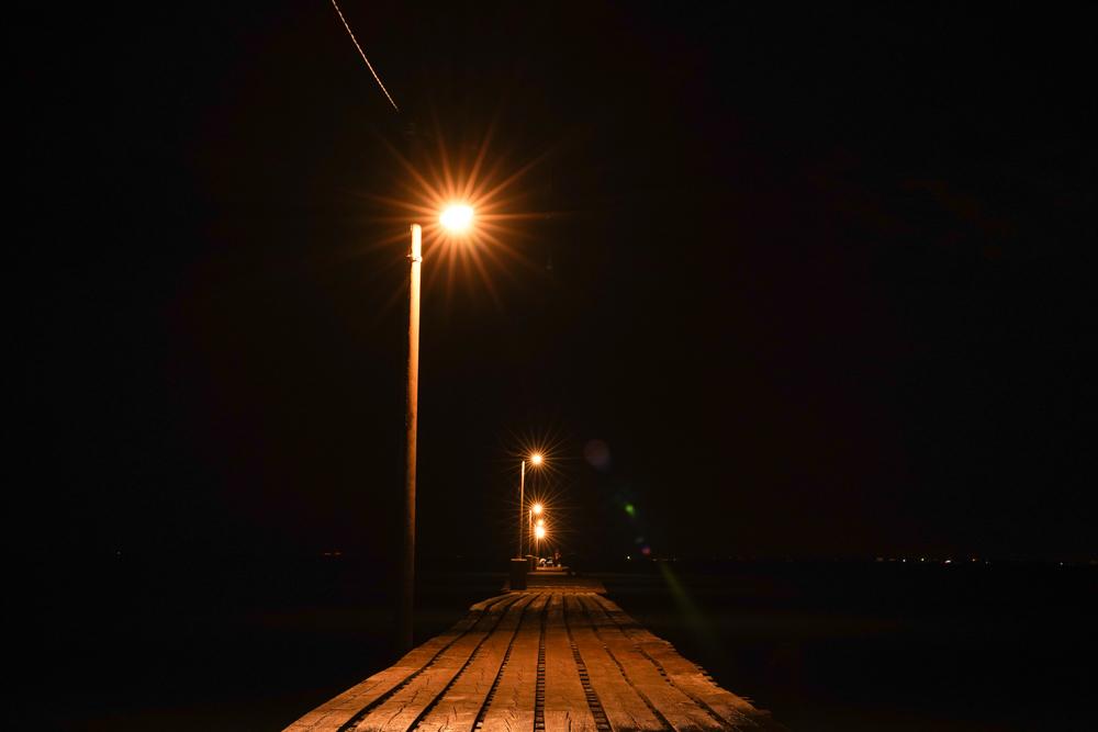2020年ペルセウス座流星群を追って房総半島をふらふら 修復された原岡桟橋 深夜の原岡桟橋