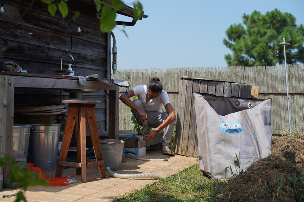 房総フィールドウォーターシステムメンテナンス DAY1 雨水タンクの清掃