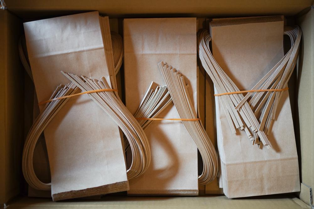 房総オルタナティブ米 オリジナルラベルを作り、米袋に詰め込んでパッケージング&デリバリー開始!