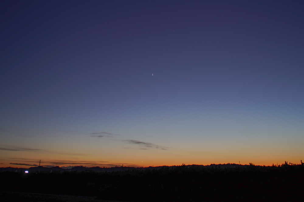 2020年 冬至と木星と土星のグレートコンジャンクション直前の空模様