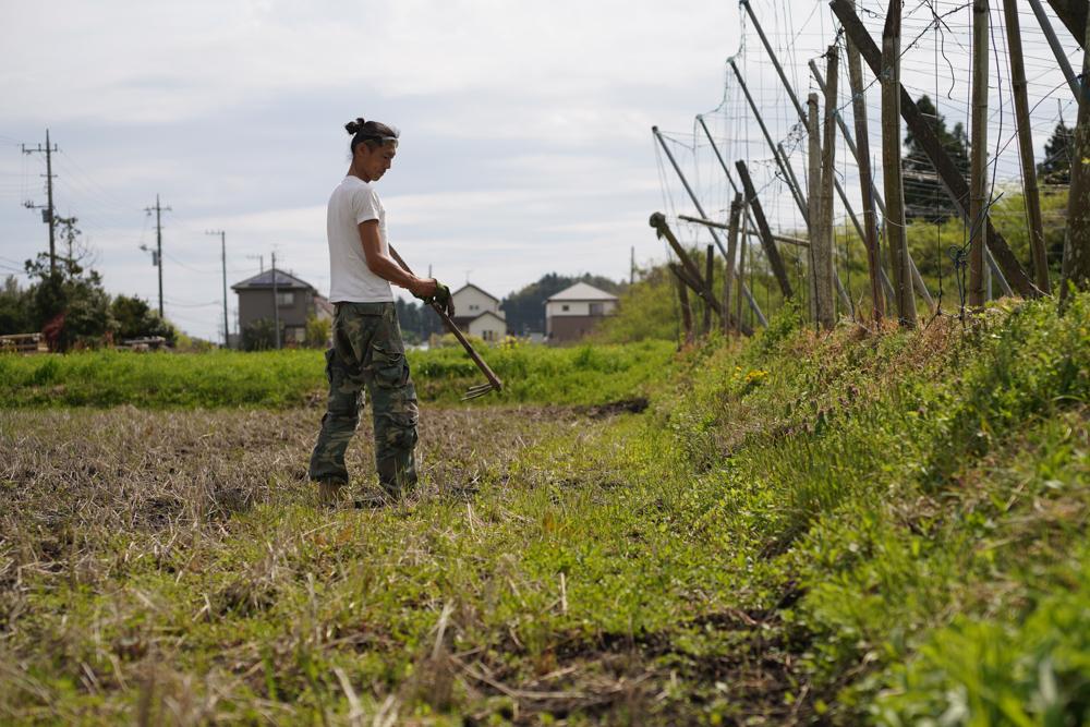春の田おこしDAY11 ラウンド2 土手脇の雑草取り