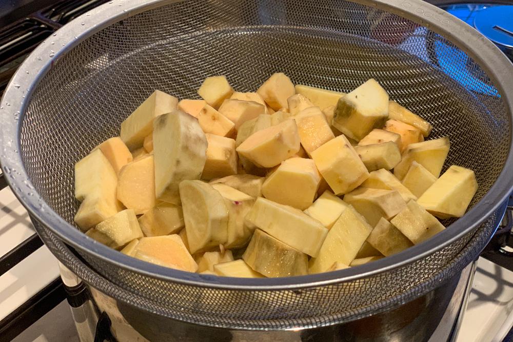 房総フィールド産さつま芋でスイートポテトを作る2020