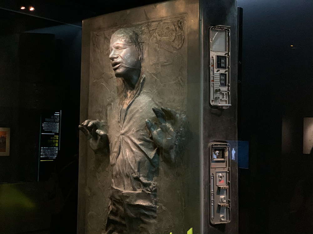 STAR WARS IDENTITIES THE EXHIBITION 天王洲 寺田倉庫 カーボンフリーズされたハン・ソロ