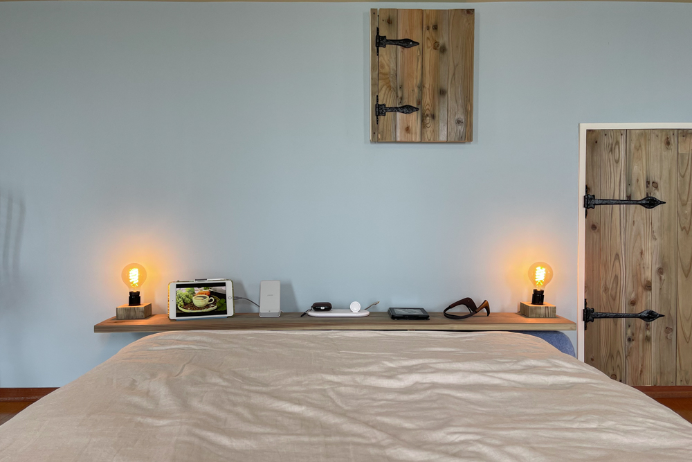 東京自宅 ロフト リノベーションDAY9 ベッドボードをDIY+ベッドマットレスをシーリー クラリスにリプレイス