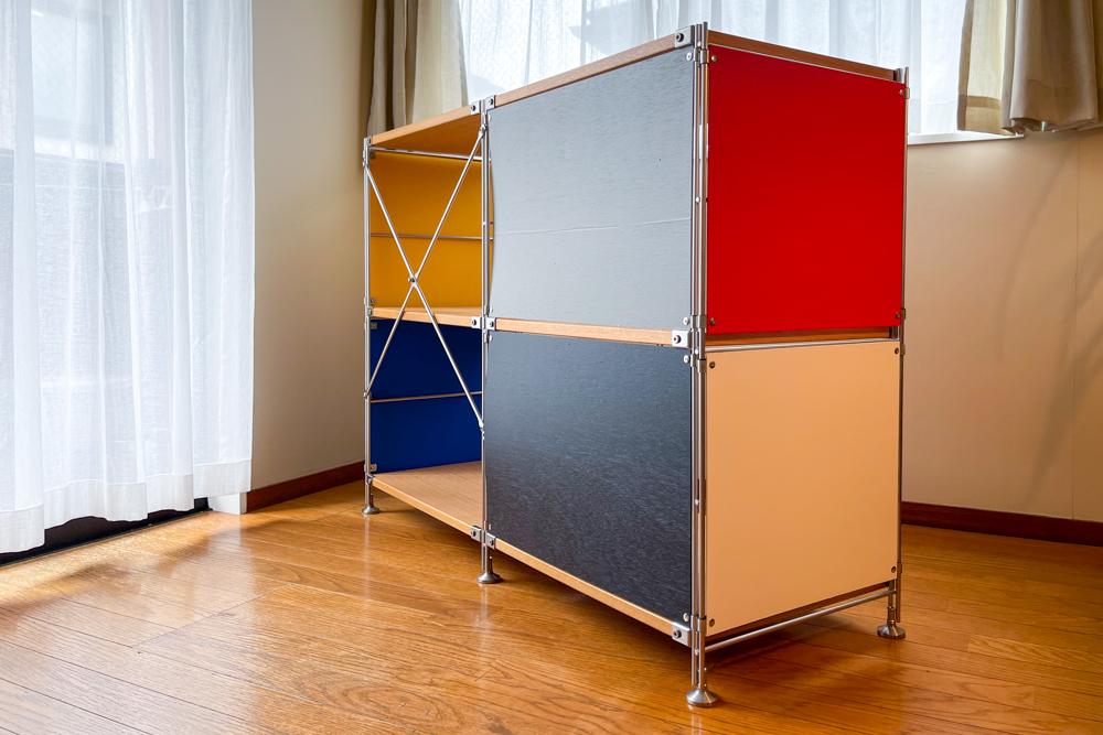 無印 ステンレスユニットシェルフにカラーパネルをつけてチャールズ・イームズ ESU(Eames Storage Unit)にカスタマイズ MUJI SUS meets Mid-Century Modern