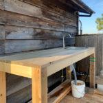 ガーデンシンクをDIY DAY3 ウォーターポンプと浄水器のテスト稼働とシンクテーブルの組み上げ