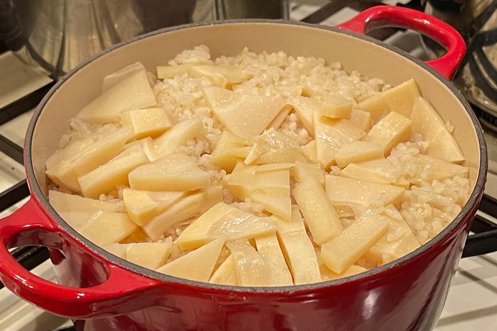 房総で頂いたタケノコと房総オルタナティブ醤油で作るタケノコご飯と土佐煮