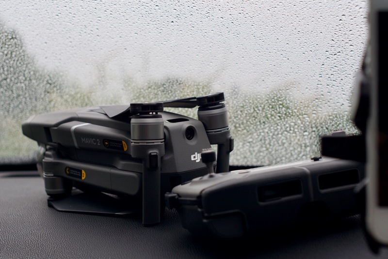 DJI Mavic 2 Pro Maiden Flight has been delayed due to bad weather